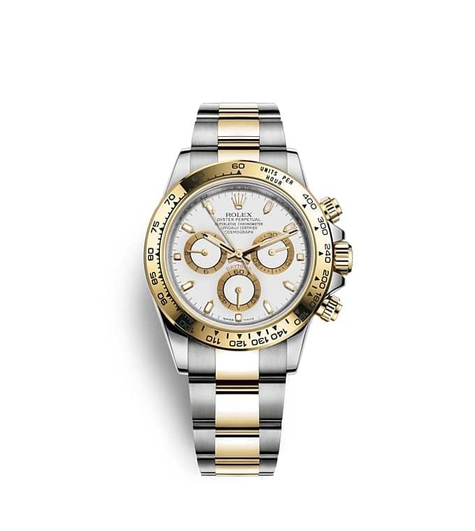 นาฬิกา Rolex Cosmograph Daytona 40 มม., หน้าปัดสีขาวตกแต่งด้วยทองคำ