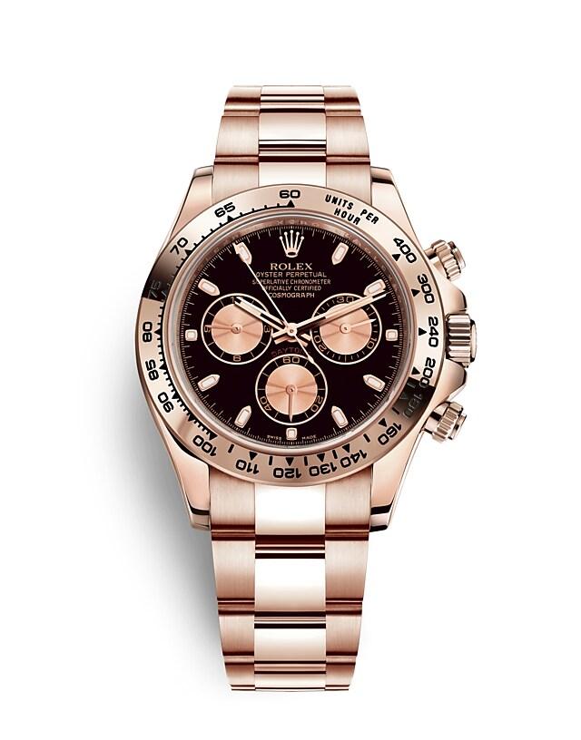 นาฬิกา Rolex Cosmograph Daytona 40 มม., เอเวอร์โรสโกลด์ หน้าปัดสีดำและสีชมพู