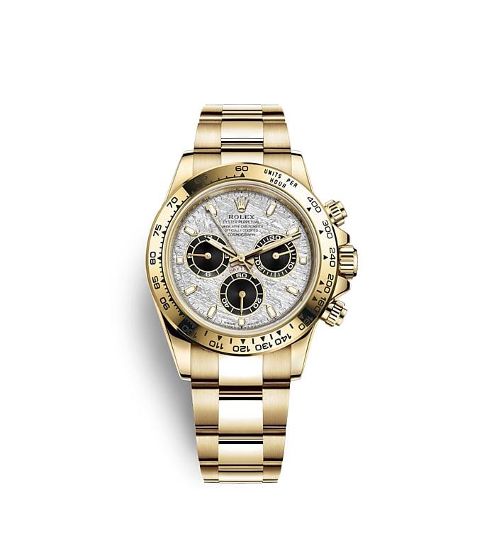 นาฬิกา Rolex Cosmograph Daytona 40 มม., ทองคำ, หน้าปัดเมธีโอไรท์และสีดำ