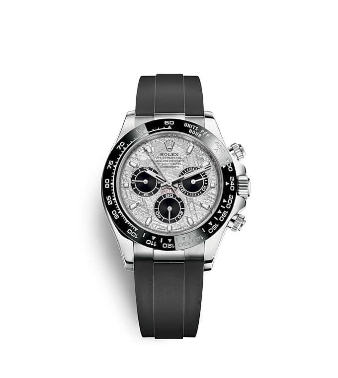 นาฬิกา Rolex Cosmograph Daytona 40 มม., หน้าปัดเมธีโอไรท์และสีดำ ขอบหน้าปัด Monobloc Cerachrom สีดำ