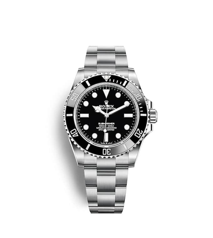 นาฬิกา Rolex Submariner 41 มม., Oystersteel หน้าปัดสีดำ ขอบหน้าปัดสีดำแสดงเวลา 60 นาทีและหมุนได้