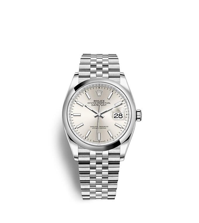 นาฬิกา Rolex Datejust 36 มม., Oystersteel หน้าปัดสีเงิน สายนาฬิกา JUBILEE