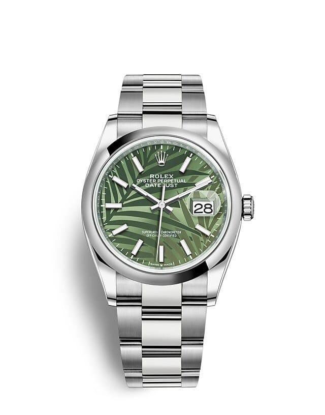 นาฬิกา Rolex Datejust 36 มม., Oystersteel หน้าปัดสีเขียวมะกอก สายนาฬิกา OYSTER