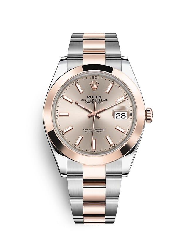 นาฬิกา Rolex Datejust 41 มม., Oystersteel และเอเวอร์โรสโกลด์ หน้าปัดซันดัสท์ สายนาฬิกา OYSTER