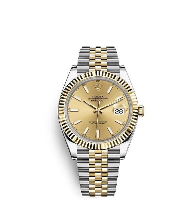 นาฬิกา Rolex Datejust 41 มม., Oystersteel และทองคำ หน้าปัดสีแชมเปญ