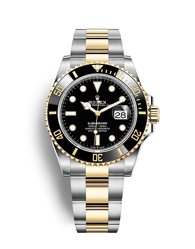นาฬิกา Rolex Submariner 41 มม., Oystersteel และทองคำ หน้าปัดและขอบหน้าปัดสีดำ