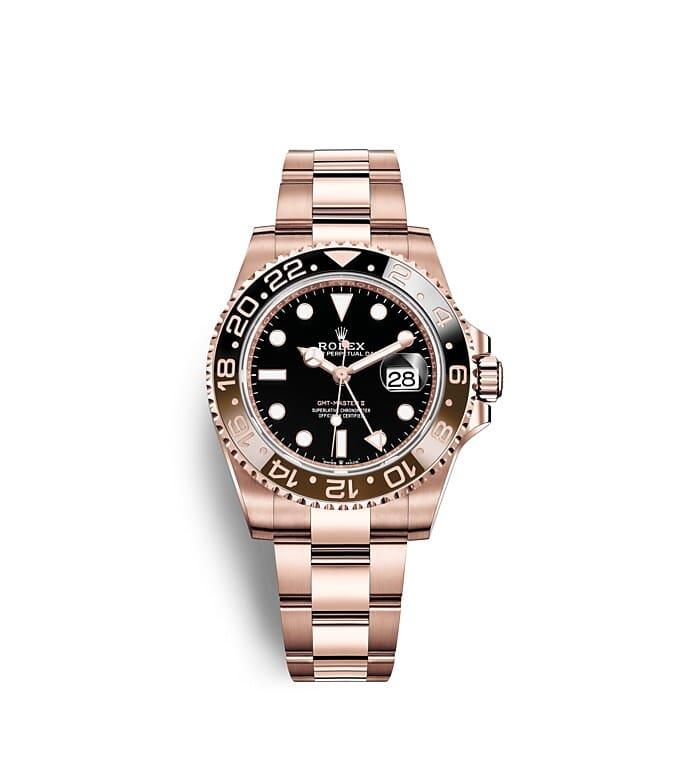 นาฬิกา Rolex GMT Master II 40 มม., หน้าปัดสีดำ ขอบหน้าปัด Cerachrom สีน้ำตาลและสีดำ