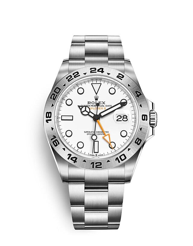 นาฬิกา Rolex Explorer 42 มม., หน้าปัดสีขาว ขอบหน้าปัด 24 ชั่วโมง