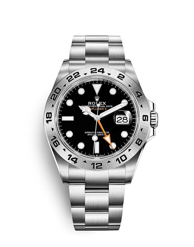นาฬิกา Rolex Explorer 42 มม., หน้าปัดสีดำ ขอบหน้าปัด 24 ชั่วโมง