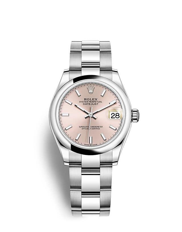 นาฬิกา Rolex Datejust 31 มม., Oystersteel หน้าปัดสีชมพู สายนาฬิกา OYSTER