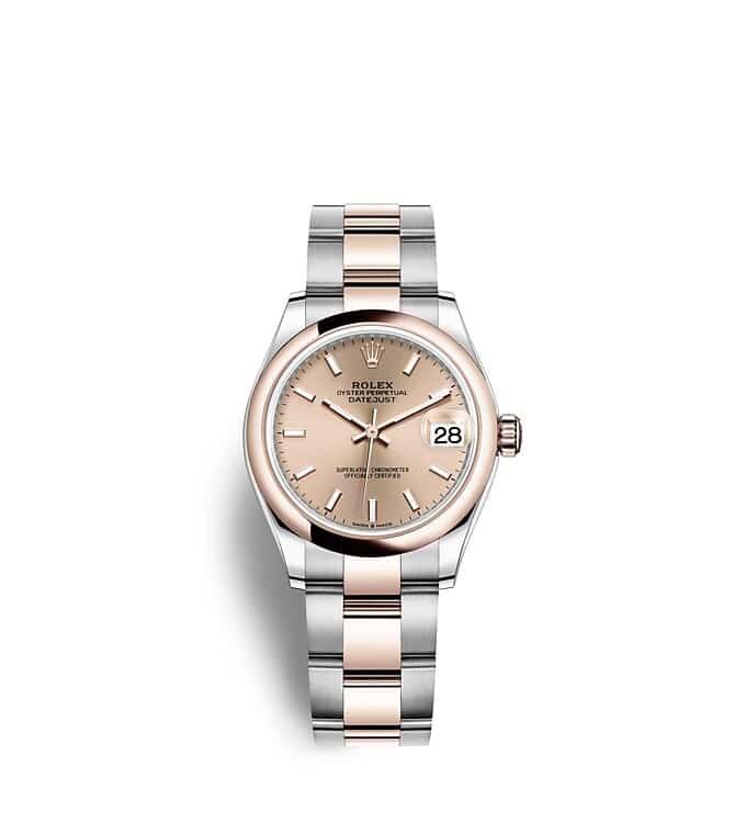 นาฬิกา Rolex Datejust 31 มม., Oystersteel และเอเวอร์โรสโกลด์ หน้าปัดสีชมพูกุหลาบ สายนาฬิกา OYSTER