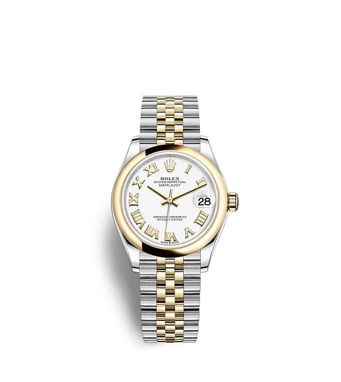 นาฬิกา Rolex Datejust 31 มม., Oystersteel และทองคำ หน้าปัดสีขาว สายนาฬิกา JUBILEE
